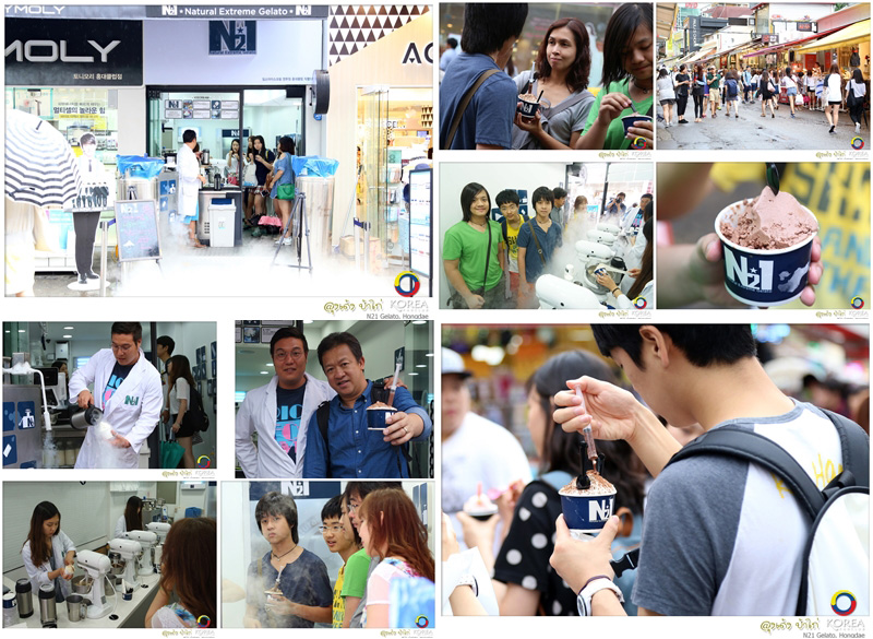 N21 Gelato ร้านไอศกรีมไนโตรเจนเหลว ยอดนิยมใน Hongdae