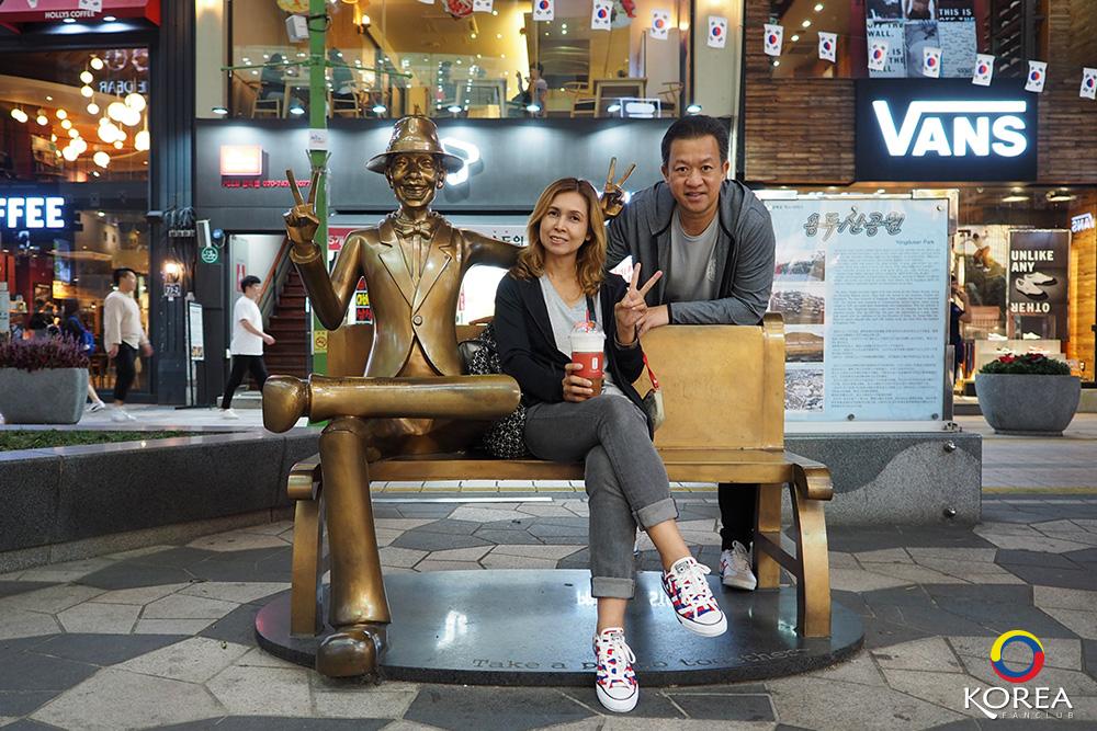 นัมโพดง Nampodong Shopping Streetลุงเด้ง ป้าไก่