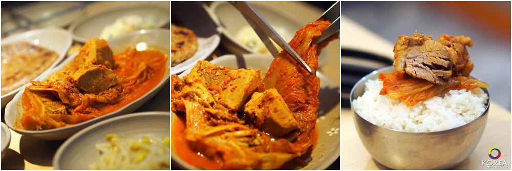 Steamed Kimchi and Pork