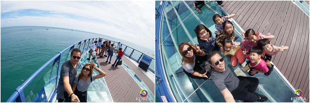ลุงเด้ง ป้าไก่ ทางเดินลอยฟ้า Cheongsapo Daritdol Observatory เมืองปูซาน