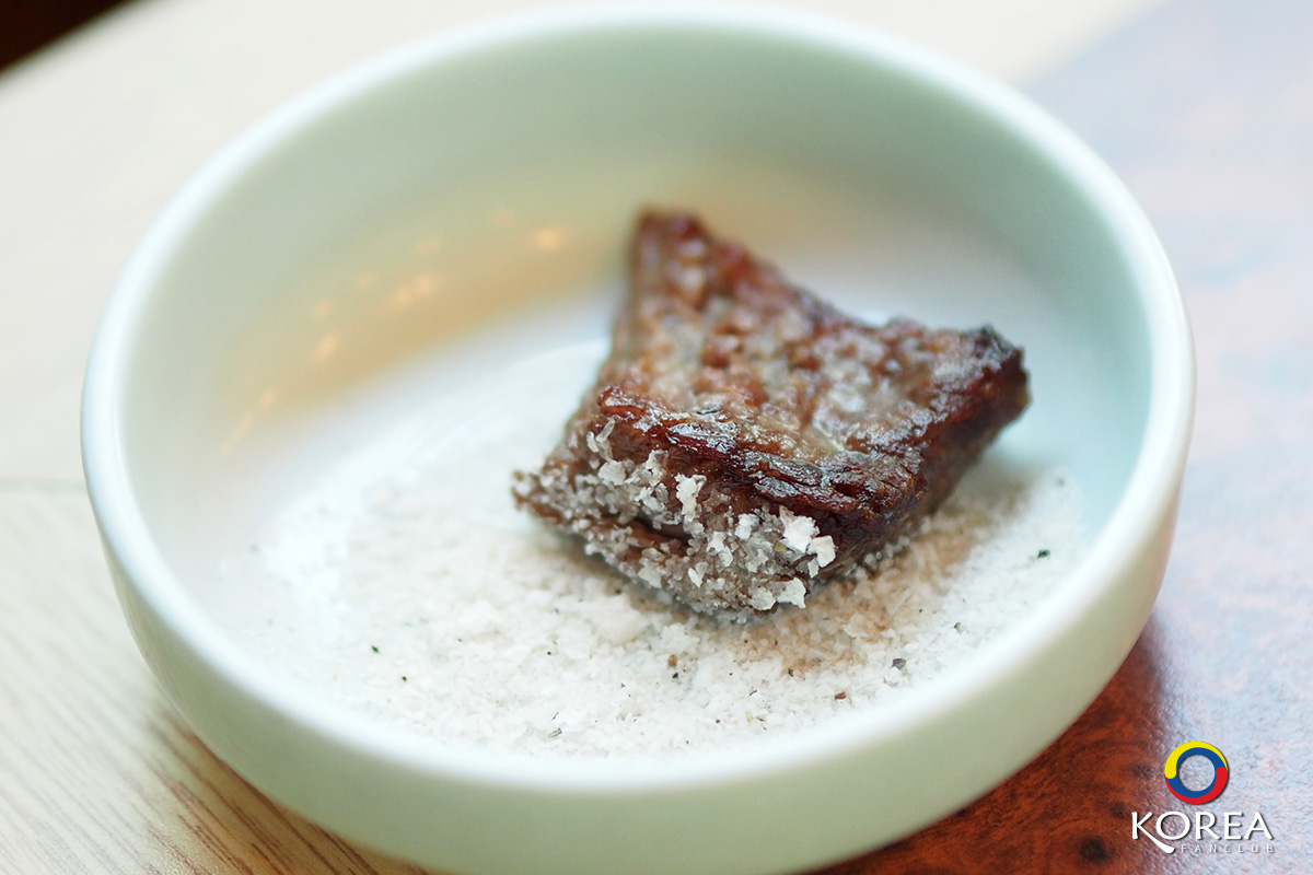 เนื้อย่างเกาหลี กับ เกลือพริกไทย
